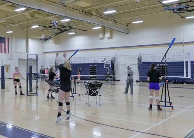 volleyball setter training equipment and target stand from the edge pro volleyball trainer