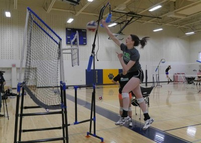 How to hit a volleyball and girl spiking a volleyball from The Edge Pro Volleyball Trainer
