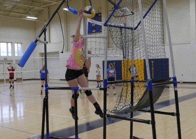 How to spike a volleyball with volleyball training equipment from The Edge Pro Volleyball Trainer