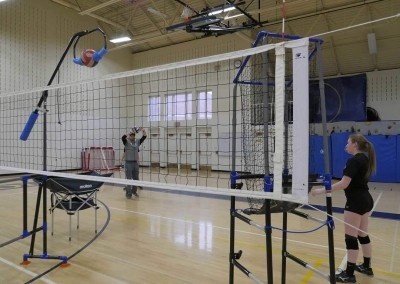Volleyball Setter Training with volleyball training equipment from The Edge Pro Volleyball Trainer