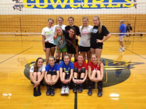 volleyball team with blogger from the edge pro volleyball trainer