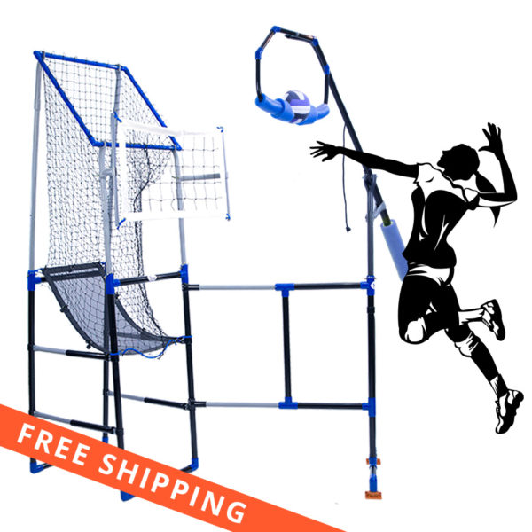 Spiking in action spike training with Volleyball Training Aid